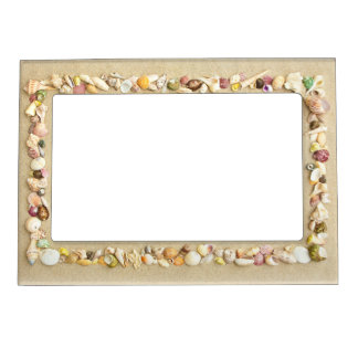 Seashell Beach Sand Border Magnetic Frame