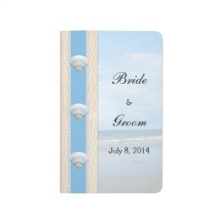 Seashell Beach Wedding Guest Book Journal