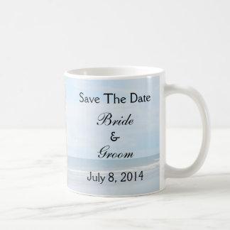 Seashell Beach Wedding Save The Date Mugs