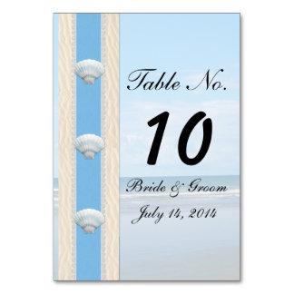 Seashell Beach Wedding Table Card