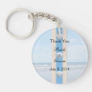 Seashell Beach Wedding Thank You Acrylic Key Chain
