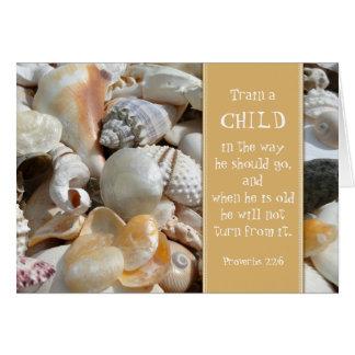 Seashell Christian Teacher Thank You Card