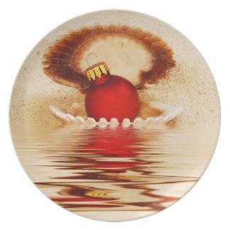 Seashell Christmas Plate