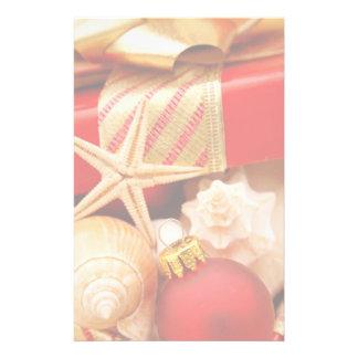 Seashell Christmas Stationery