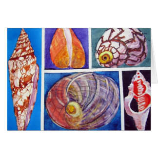 Seashell collage card