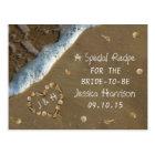 Seashell Heart Beach Bridal Shower Recipe Cards