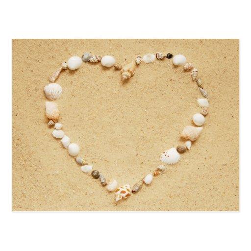 Seashell Heart Postcard
