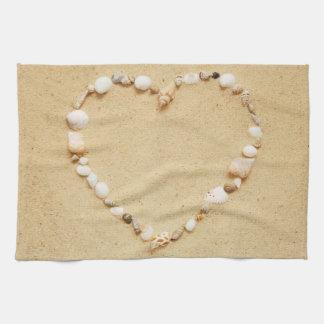 Seashell Heart Towels