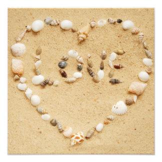 Seashell Love Heart Photo Print