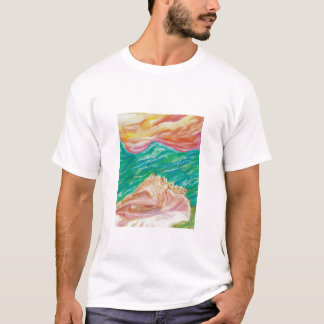 Seashell,  Men's Basic T-Shirt
