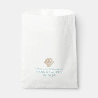 Seashell Nautical Beach Wedding | Party Favour Bag
