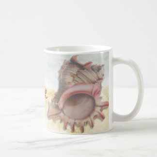 Seashell on the Beach Coffee Time Coffee Mug