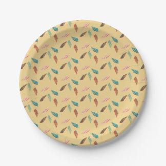 Seashell Paper Plate