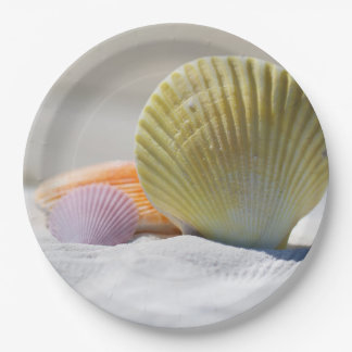 "SeaShell Paper Plates 9"" 9 Inch Paper Plate"