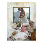 Seashell Photo Frame Wedding Party Invitation Postcards
