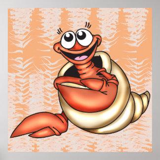Seashell Sea Creature Poster