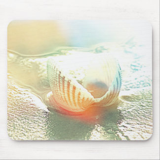 Seashell Shells Sandy Beach Beaches Mouse Pad