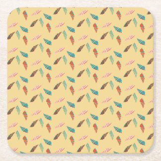 Seashell Square Paper Coaster