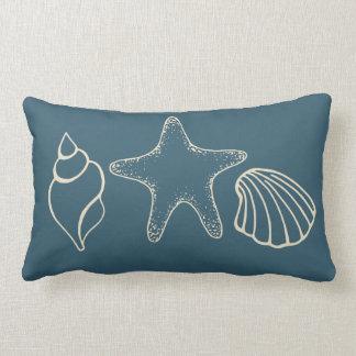 Seashell Starfish Beach Nautical Pillow
