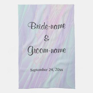 Seashell Style Pattern. Wedding. Hand Towels