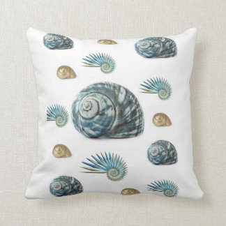 Seashell throw pillow decorative ocean