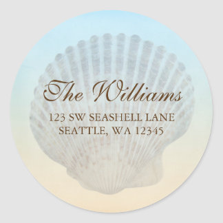 Seashell Tropical Beach Address Label