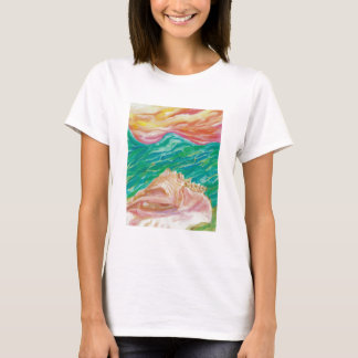 Seashell Women's Cut Designer T-Shirt