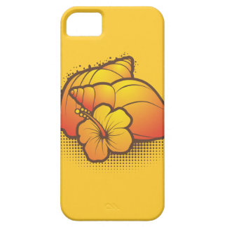 seashells and palmtree 2 orange iPhone 5 cases
