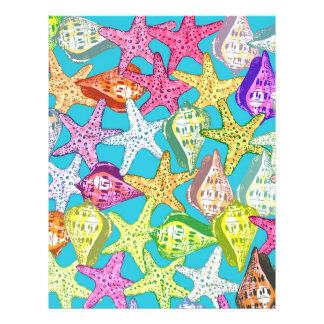 Seashells and sea stars 21.5 cm x 28 cm flyer