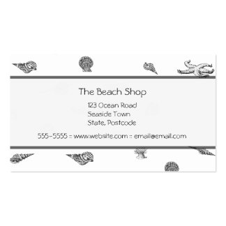 Seashells and Starfish Business Cards