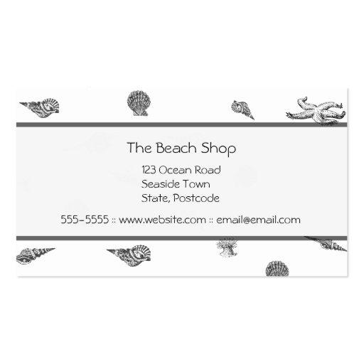 Seashells and Starfish Business Cards