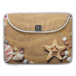 Seashells and Starfish on Beach Sleeves For MacBooks