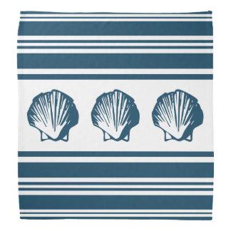 Seashells and stripes bandana