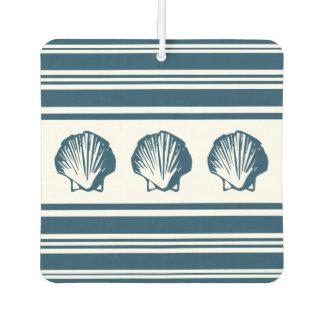 Seashells and stripes car air freshener