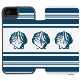 Seashells and stripes incipio watson™ iPhone 5 wallet case