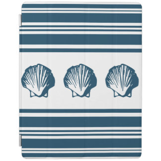 Seashells and stripes iPad cover