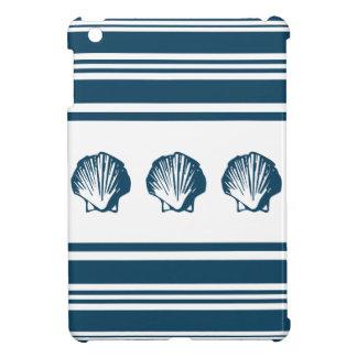 Seashells and stripes iPad mini cover
