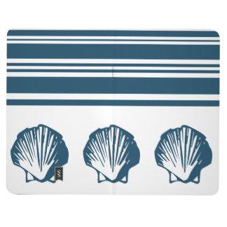 Seashells and stripes journal