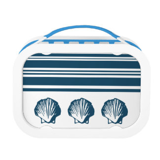 Seashells and stripes lunch box