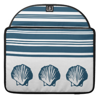 Seashells and stripes MacBook pro sleeve