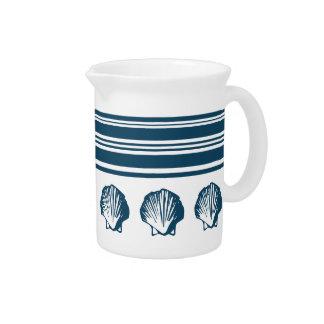 Seashells and stripes pitcher