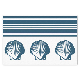Seashells and stripes tissue paper