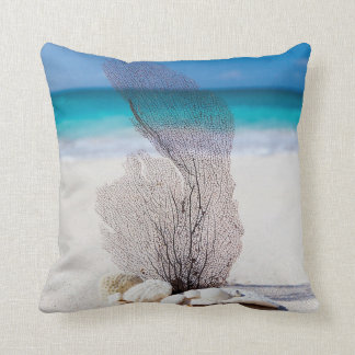 Seashells Beach Ocean Nautical Throw Pillows