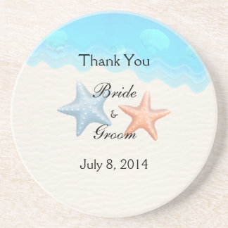 Seashells Beach Thank You Drink Coasters