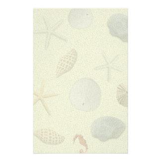Seashells Blank Writing Paper Stationery Design