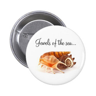 Seashells Button Badge