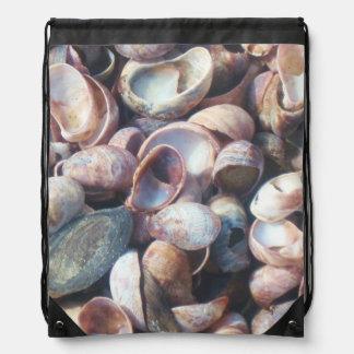 Seashells By The Seashore Drawstring Bag