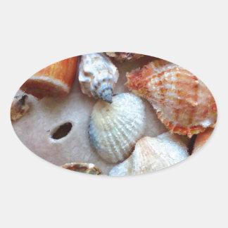 Seashells by the Seashore Oval Sticker