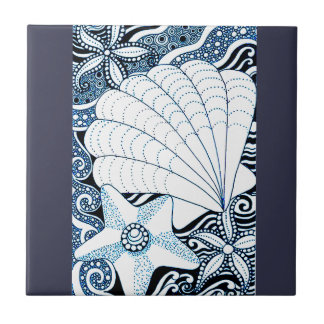 Seashells Ceramic Tile