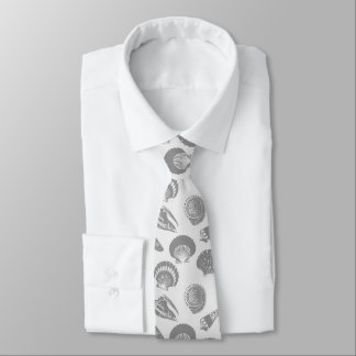 Seashells - Charcoal and silver grey Tie
